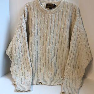 Vintage Eddie Bauer cable knit sweater size L